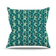 KESS InHouse Bubbles Made of Paper by Akwaflorell Throw Pillow