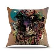 KESS InHouse Doom and Bloom by Mat Miller Dark Rose Throw Pillow; 26'' H x 26'' W x 5'' D