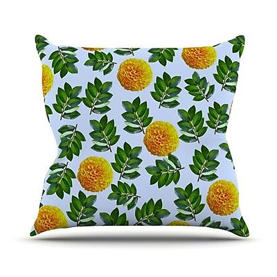 KESS InHouse More Marigold by Sreetama Ray Throw Pillow; 18'' H x 18'' W x 3'' D WYF078277645789