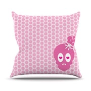 KESS InHouse Skull by Nick Atkinson Throw Pillow