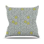 KESS InHouse Deco Orchids by Allison Beilke Throw Pillow; 26'' H x 26'' W x 1'' D
