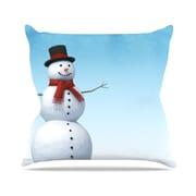 KESS InHouse Feelin' Frosty by Snap Studio Cotton Throw Pillow; 16'' H x 16'' W x 3'' D