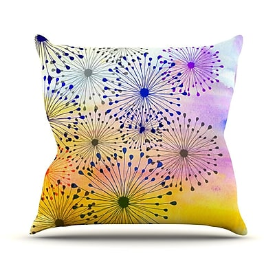 KESS InHouse Bursting Blossoms by Sreetama Ray Throw Pillow; 16'' H x 16'' W x 3'' D WYF078277645331