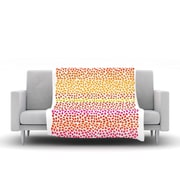KESS InHouse Sunset Arrows by Sreetama Ray Fleece Throw Blanket; 40'' H x 30'' W x 1'' D