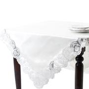 Saro Victoria Design Embroidered Tablecloth; 72'' H x 72'' W