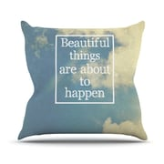 KESS InHouse Beautiful Things by Rachel Burbee Sky Clouds Throw Pillow; 20'' H x 20'' W x 4'' D
