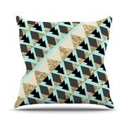 KESS InHouse Glitter by Nika Martinez Throw Pillow; 16'' H x 16'' W x 3'' D