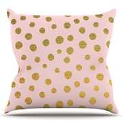 KESS InHouse Golden Dots by Nika Martinez Blush Cotton Throw Pillow; 16'' H x 16'' W x 3'' D