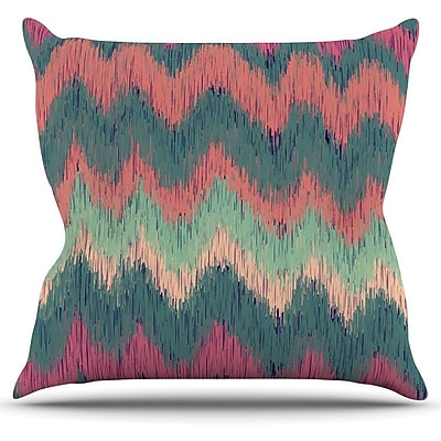 KESS InHouse Ikat Chevron by Nika Martinez Throw Pillow; 18'' H x 18'' W x 3'' D WYF078277653977