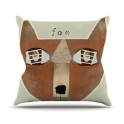 KESS InHouse Fox Face by Bri Buckley Throw Pillow; 16'' H x 16'' W x 1'' D