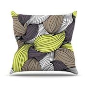 KESS InHouse Wild Brush by Gabriela Fuente Throw Pillow; 20'' H x 20'' W x 1'' D