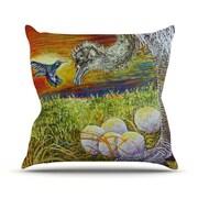 KESS InHouse Ostrich by David Joyner Throw Pillow; 20'' H x 20'' W x 1'' D