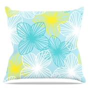 KESS InHouse Aqua Sunshine by Emine Ortega Throw Pillow; 20'' H x 20'' W x 1'' D