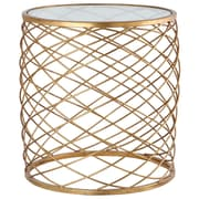 MarianaHome Criss Cross End Table; Gold