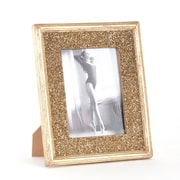 Saro Bejeweled Seed Bead Design Picture Frame; Gold