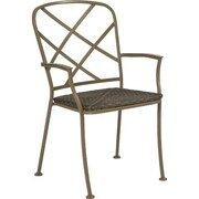 Woodard Aberdeen Stacking Dining Arm Chair; Graphite