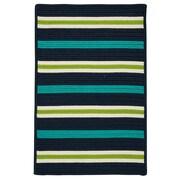 Colonial Mills Painter Stripe Navy Waves Indoor/Outdoor Area Rug; 8' x 10'