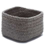 Colonial Mills Natural Shelf Square Basket  ; Dark Gray