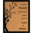 PTM Images Love At Home Corkboard Wall Mounted Glass board, 2' x 2'