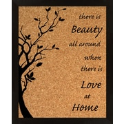PTM Images Love At Home Wall Mounted Bulletin Board, 2' x 2'