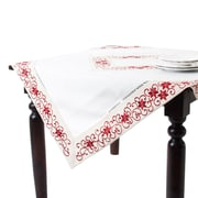 Saro Francine Embroidered and Cutwork Table Topper
