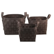WaldImports 3 Piece Container Set; Chocolate