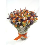 Dried Flowers and Wreaths LLC Safflower and Chili Bouquet