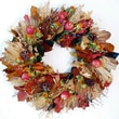 Dried Flowers and Wreaths LLC Harvest Apple and Wheat Wreath