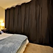 RoomDividersNow 108'' x 192'' - 228'' Muslin Hanging XX-Large B 2 Panel Room Divider; Black