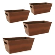 WaldImports Paperboard Tote (Set of 4); Brown