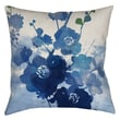 Thumbprintz Streams of Blues Printed Polyester Throw Pillow; 14'' H x 14'' W x 3'' D
