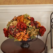 Floral Home Decor Rose and Hydrangea Silk Flower Arrangement