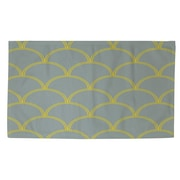 Thumbprintz Art Deco Circles Slate / Yellow Area Rug; 2' x 3'