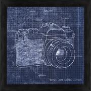 PTM Images Camera Blueprint I Gicl e Framed Graphic Art
