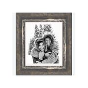 Frames By Mail 8'' x 10'' Frame in Black and Moss Silver