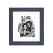 Frames By Mail 20'' x 24'' Rustic Wire Brush Frame in Black