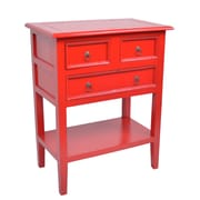 Jeffan Newton End Table; Antique Red