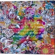 Evive Designs 'Be A Graphic Art' by Jennifer Lee Graphic Art on Wrapped Canvas