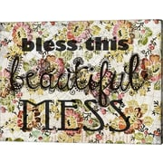 Evive Designs 'Beautiful Mess' by Jennifer Lee Textual Graphic Art on Wrapped Canvas
