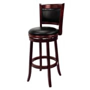RAM Game Room 30'' Swivel Bar Stool with Cushion; English Tudor