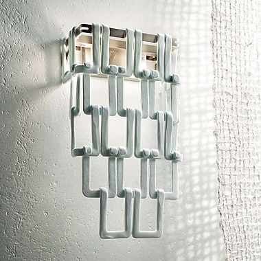 Evi Style Tessuti Maxi 2-Light Wall Light; Polished White