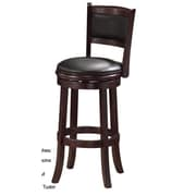 RAM Game Room 30'' Swivel Bar Stool with Cushion; Cappuccino