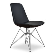Aeon Furniture Paris 3 Side Chair (Set of 2); Black