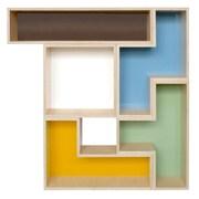 Brave Space Design Tetrad Flat 54'' Cube Unit Bookcase; White