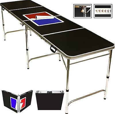 Red Cup Pong Sports Official Beer Pong Table in Standard Aluminum WYF078277385085