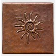 D'Vontz Infinite Sun 4'' x 4'' Copper Tile in Dark Copper