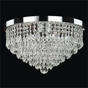 Glow Lighting Spellbound 3 Light Close -Up Flush Mount; Signature Clear Crystal