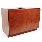 D'Vontz MDV Modular Cabinetry 36'' Bathroom Vanity Base; Traditional Cherry