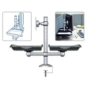 Aidata U.S.A E-motion Height Adjustable Desk Mount with Monitor Arm and Two Document Trays