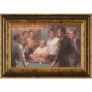 Ashton Wall D cor LLC Callin' the Blue Framed Painting Print